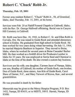 Robert Cornish Chuck Robb, Jr