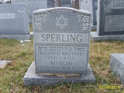Myron I Morris or Meyer Sperling