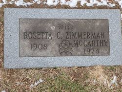 Rosetta C <i>Zimmerman</i> McCarthy