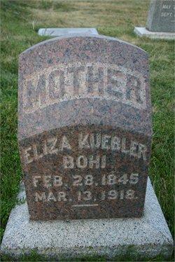 Elizabeth Eliza <i>Kuebler</i> Bohi