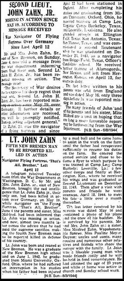John Harry Zahn, Jr