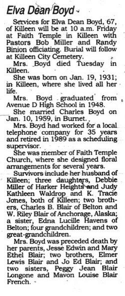 Elva Dean <i>Blair</i> Boyd