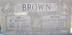 Martha Jane <i>Davis</i> Brown