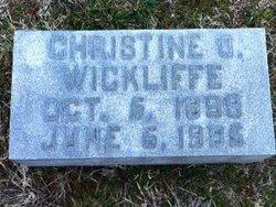 Christine Imbler Teen or Teenie <i>Oates</i> Wickliffe
