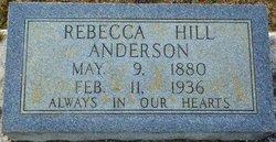 Rebecca <i>Hill</i> Anderson