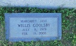Margaret Jane <i>Willis</i> Goolsby