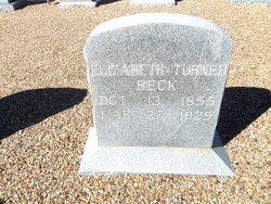 Elizabeth <i>Turner</i> Beck