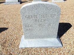 Genie <i>Turner</i> Beck