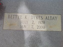 Bettye K <i>Dykes</i> Alday