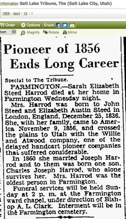 Sarah Elizabeth <i>Steed</i> Harrod