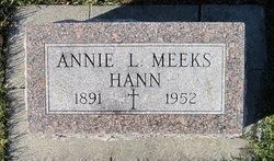 Annie L. <i>Meeks</i> Hann