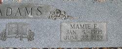 Mamie Emaline <i>Hurst</i> Adams