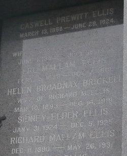Nell Earle Nellie <i>Mallam</i> Ellis