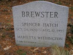 Capt Spencer Hatch Brewster