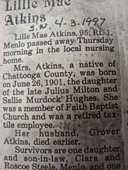 Lillie Mae <i>Hughes</i> Atkins
