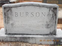 Green Grover Cleveland Burson