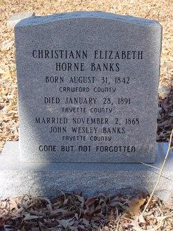 Christian Elizabeth <i>Horne</i> Banks