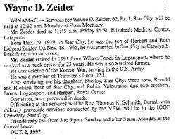 Wayne D Zeider