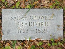 Sarah <i>Crowell</i> Bradford