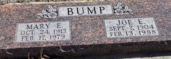 Joseph Earnest Joe Bump