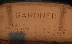 Alice Frances <i>Vancleave</i> Gardner