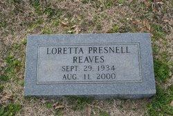 Loretta <i>Presnell</i> Reaves