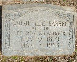 Carrie Lee <i>Barbee</i> Kilpatrick