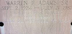 Juliette B. Sweet Heart Adams