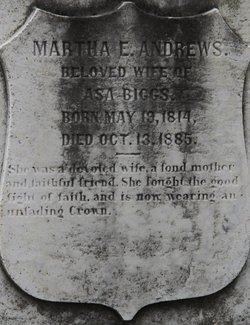 Martha E. <i>Andrews</i> Biggs