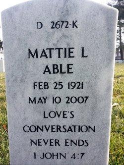 Mattie L Able