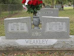 Ewell Fernie Weakley