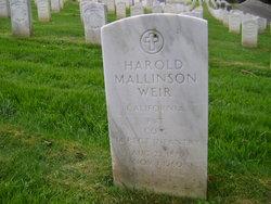 Harold Mallinson Weir
