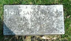 Mary Elizabeth Lizzie <i>Sanders</i> Cobb