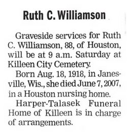 Ruth Ellen <i>Church</i> Williamson