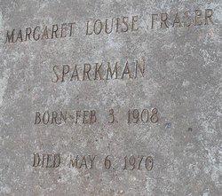 Margaret Louise <i>Frasier</i> Sparkman