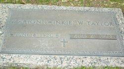 Marion <i>Winkleman</i> Taylor