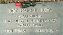 Roy Cammie Row