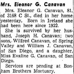 Eleanor G Canavan