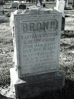 Martha A Brown