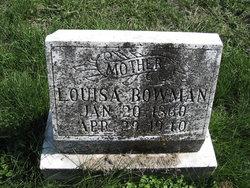 Louisa Jane <i>Roberts</i> Bowman