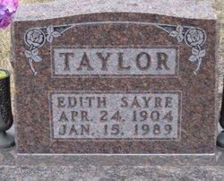 Edith <i>Sayre</i> Taylor