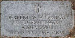 Robert W Aldridge