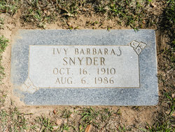 Ivy Barbara Snyder