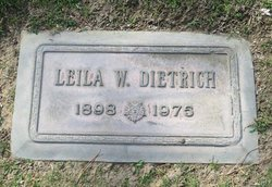Leila Welthy <i>Holiday</i> Dietrich