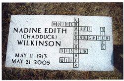 Nadine Edith <i>Chadduck</i> Wilkinson