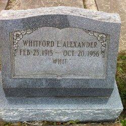 Whitford Elijah Whit Alexander