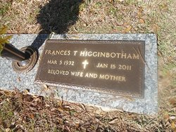 Frances <i>Thornbrugh</i> Higginbotham