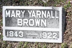 Mary <i>Yarnall</i> Brown