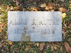 Allie Belle <i>Kinsloe</i> Autry