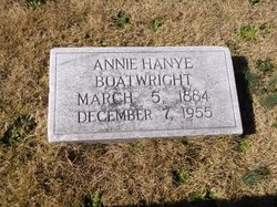 Annie Elizabeth <i>Hanye</i> Boatwright